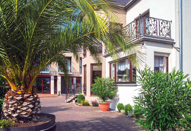 Blick auf das Gästehaus in Nittel, Mosel
