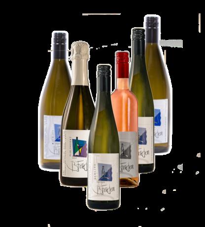 Probierpaket Elbing; Weinprobe beim Winzer in Nittel Mosel, Weingut B. Frieden