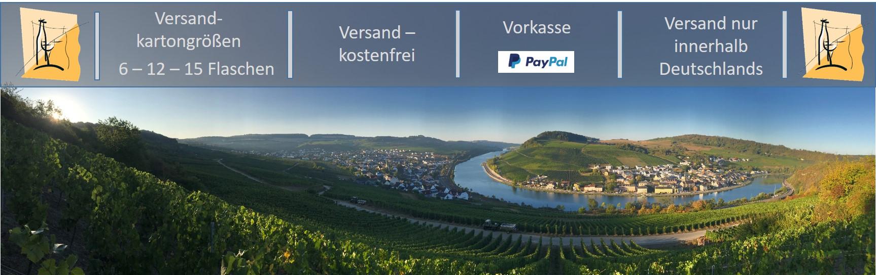 Guter Wein direkt von Mosel - Winzer kaufen; Weingut B. Frieden; Nittel Mosel, versandkostenfrei